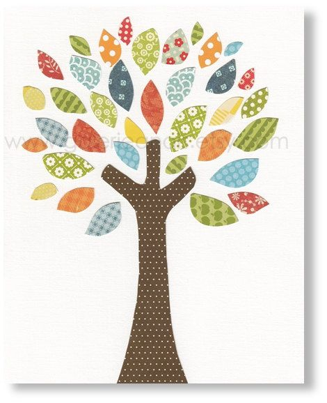 Nursery art print, nursery decor, baby nursery print, kids art, kids room decor, tree nursery, Tree Of Colors 8x10 print from Paris. $14.00, via Etsy.