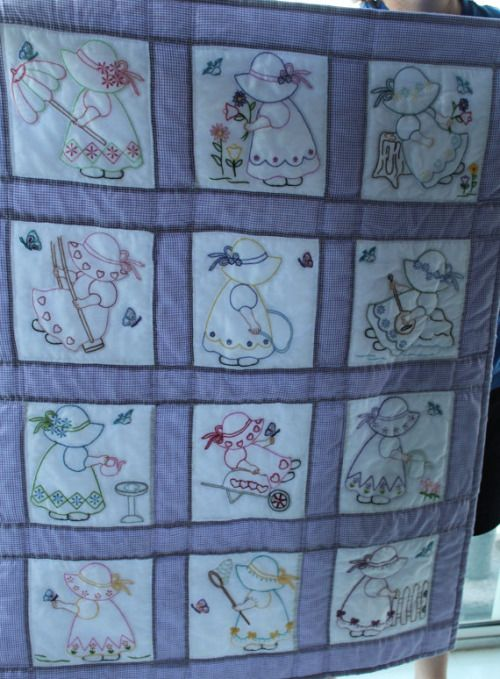 This is a quilt I embroidered and my mom pieced a few ...