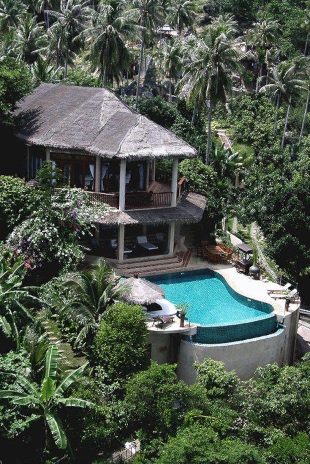 Idéias de design de casas de praia de luxo 30   – Paradise Living / Tropical Life Interior & Exterior