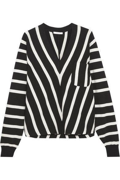 Chloé - Striped Cotton Sweater - Black - small