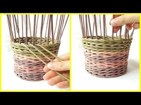 Плетение прямой и обратной веревочкой в 3 трубочки (плавный незаметный переход) - YouTube