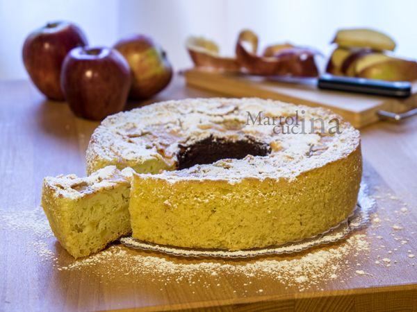 TORTA DI MELE ALLA RICOTTA SENZA BURRO E OLIO (FORNO TRADIZIONALE E VERSILIA) #torta #dolce #mele #senzaolio #senzaburro #versilia #light