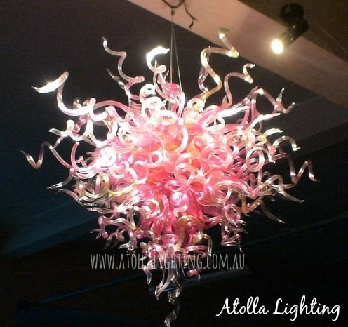 Atolla Lighting | Exceptional hand blown glass chandeliers - the perfect large scale lighting solutions which create dramatic effect. www.atollalighting.com.au