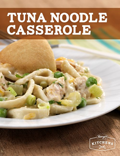 Tuna Noodle Casserole: This classic tuna casserole is a family favorite! With Reames Noodles and Sister Schubert's Parker House Style Rolls, it creates a savory combo for any tuna lover.