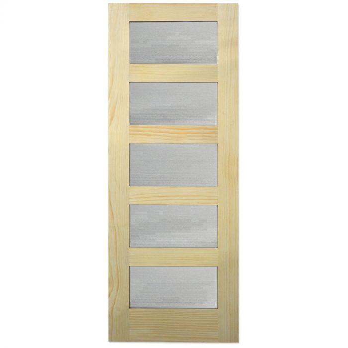 Barn Door 5 Lite Reeded Glass Pine 32 X 84 Seconds And Surplus Reeded Glass Barn Door Glass