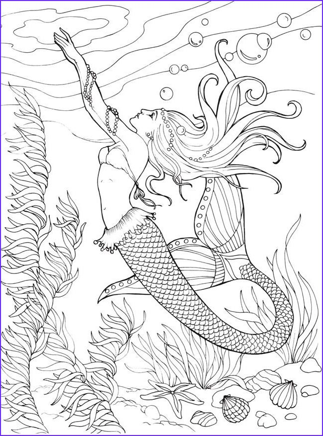 Hello Kitty Mermaid Coloring Pages Free Print - Kitten