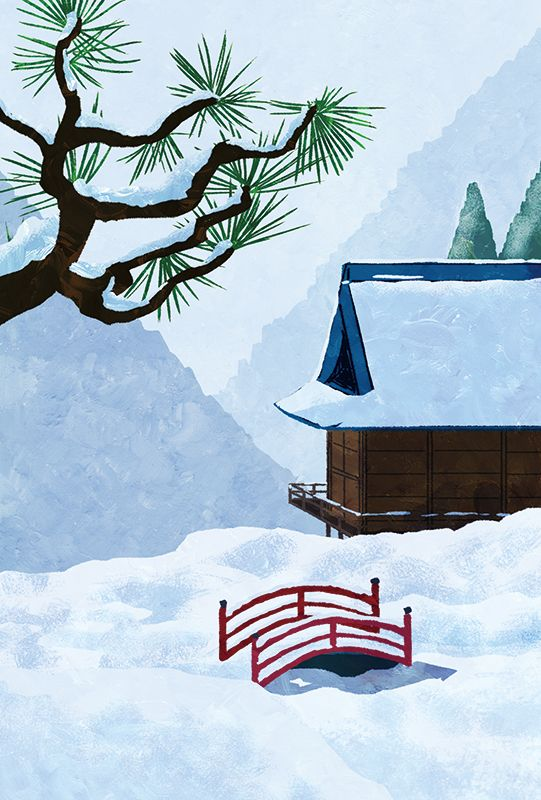 Illustration for New year's card book published in shoeisha.  #illustration #illustrator #イラスト #イラストレーション #イラストレーター
