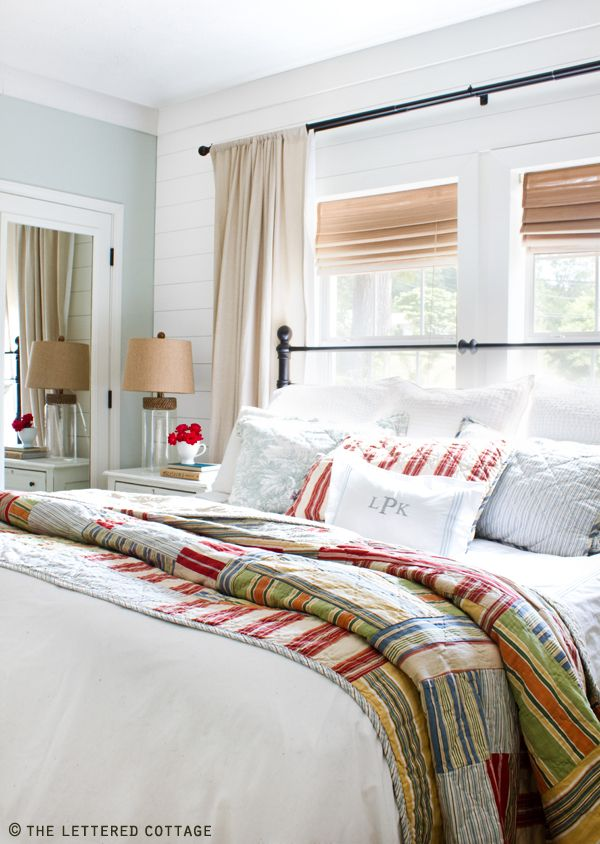 Cute bedroom Bed in front of a