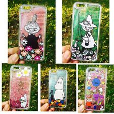 Cute Hard Cover For iPhone 6 6s Plus  Genius Moomin Dynamic Glitter Quicksand