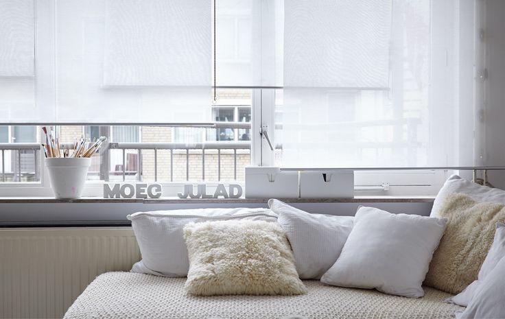 Las casas no tienen por qué estar llenas de colores; a Paula, por ejemplo, le gusta la calma que transmite el color blanco