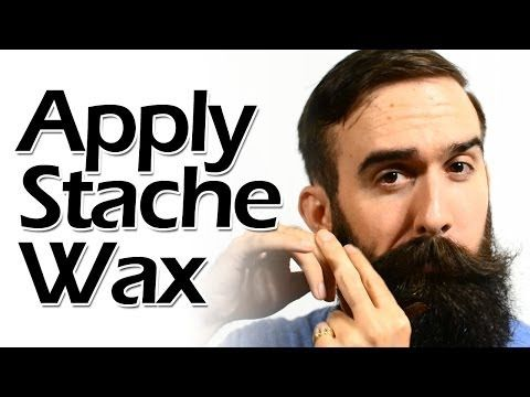 How to Apply Mustache Wax Like a Boss - YouTube