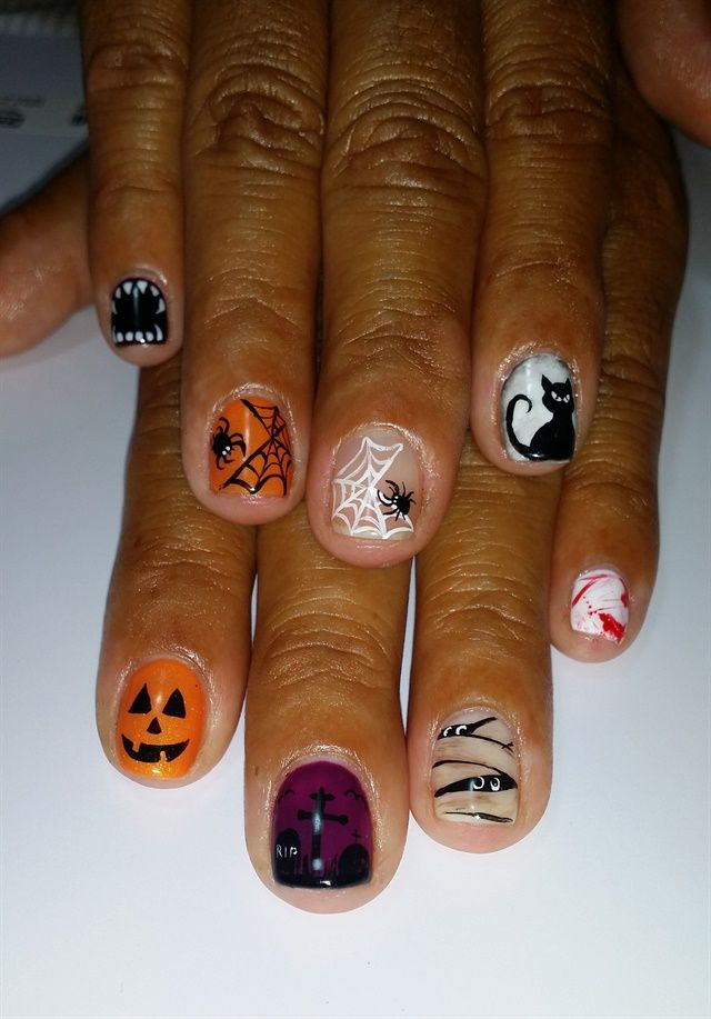 day 287 scary good halloween nail art - Halloween Easy Nail Art