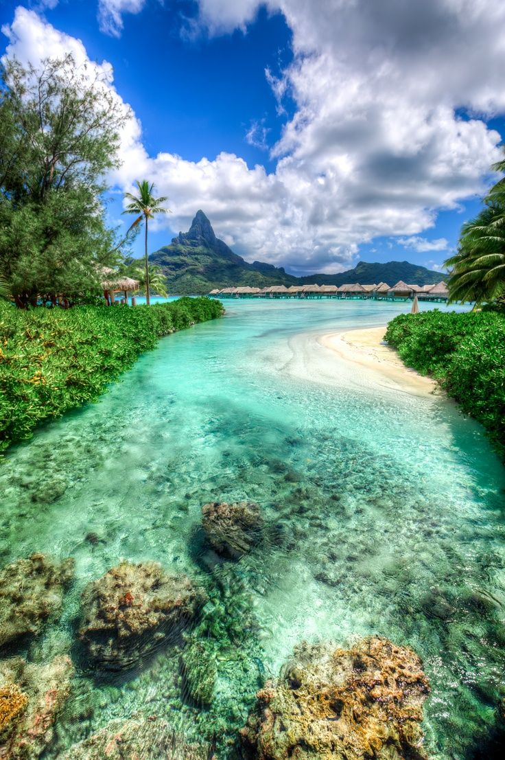 View on the Mt. Otemanu, Leeward Islands, Bora Bora - from the Intercontinental Bora Bora Thalasso and spa // Alex Eshelman