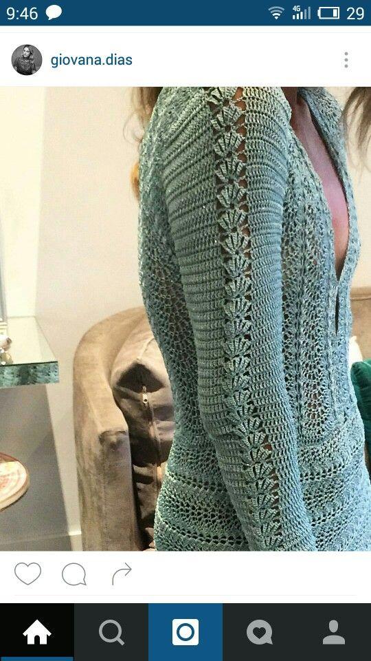 Платье крючком, вязание крючком, Джована Диас