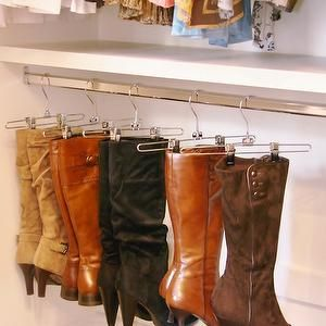 Brown Eyed Bell - closets - boot rack, hanging boot rack, boots rack, hanging boots rack, shoe closet, boot racks, closet boot racks, boot storage, closet boot storage, boot rack ideas, boot storage ideas, storing boots,