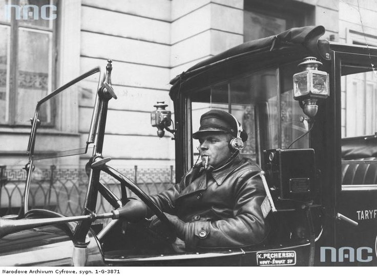 Warsaw, cabrio taxi, 1935.