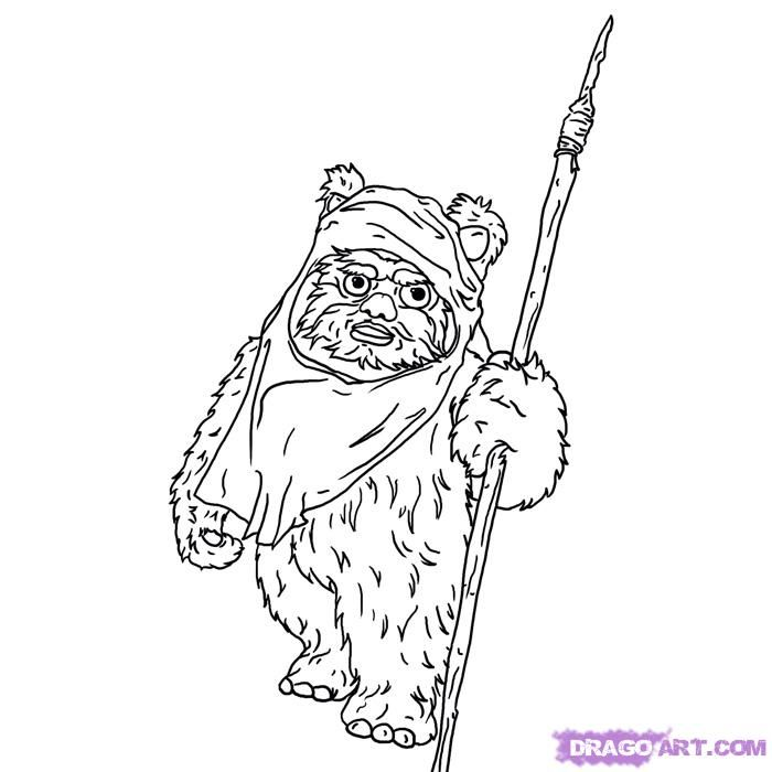 star wars ewok coloring pages - photo#6