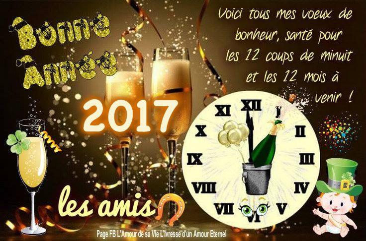 Bonne Année 2017 les amis Voici tous mes voeux de bonheur, santé pour les 12 coups de minuit et les 12 mois à venir ! #bonneannee nouvel an reveillon champagne fete meilleurs voeux