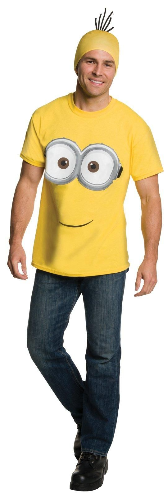 Not ready to go totally yellow? This Minions Movie: Adult Minion Shirt and Headpiece will help ease the transition.