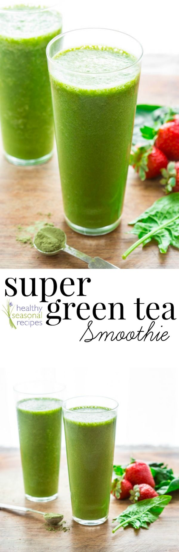 super green tea antioxidant smoothie - Healthy Seasonal Recipes