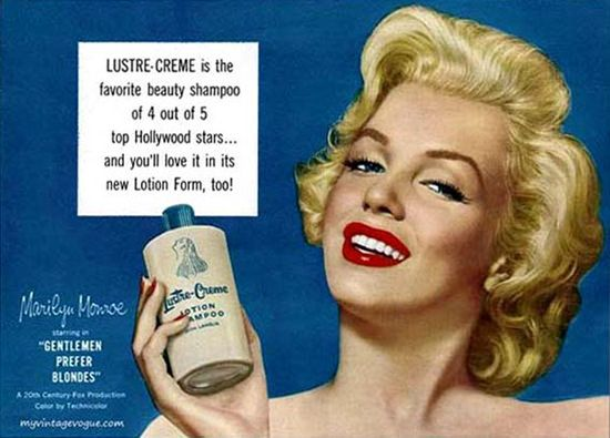 Lustre-Creme Shampoo Marilyn Monroe 1953 - www.MadMenArt.com | Actress, model…