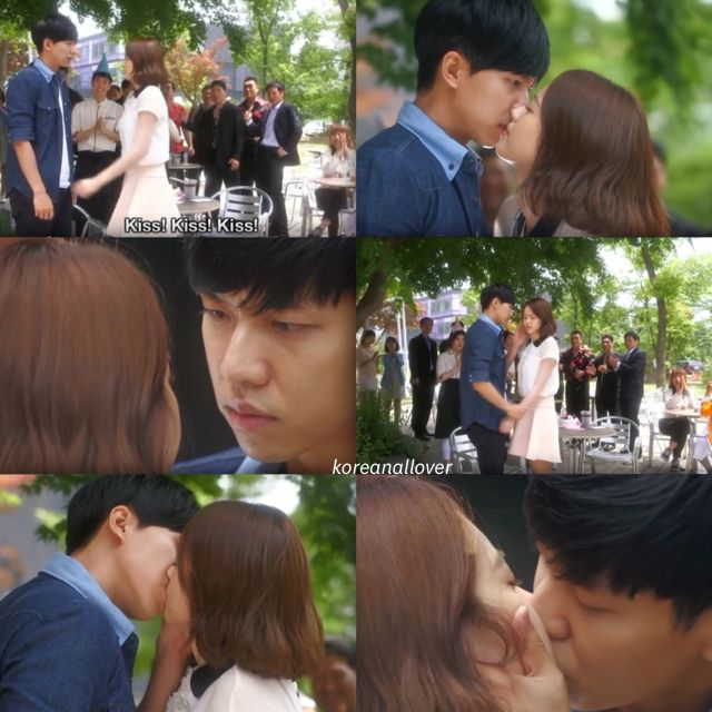 A little bonus on the job. ^^ You're all surrounded #Kdrama #kiss #scene