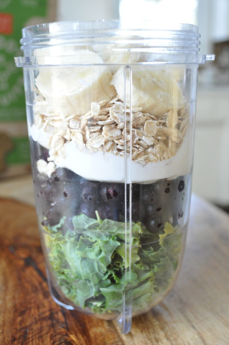 Greens for Breakfast | Kale, Oat, and Blueberry Smoothie