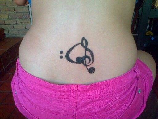 Music note I did on my friend's back with henna.
