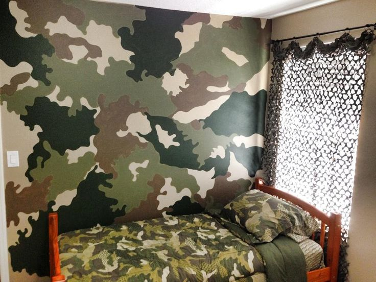 Camo accent wall boy 39 s bedroom pinterest accent for Camo bedroom ideas
