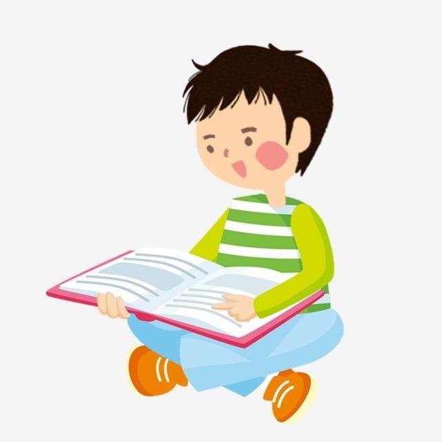 طفل يقرأ كتاب الكرتون الرسم باليد دراسة محاضرة Png وملف Psd للتحميل مجانا Disney Characters Character Little Boys