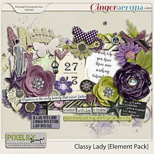 {Classic Lady} Digital Scrapbook Elements by Pixelily Designs available at Gingerscraps http://store.gingerscraps.net/Pixelily-Designs/ #digiscrap #digitalscrapbooking #pixelilydesigns #classiclady