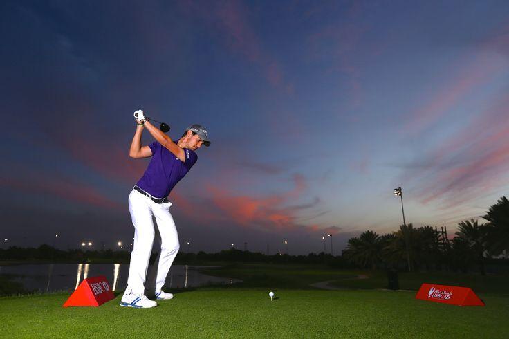 Matteo Manassero rips a driver under the lights at Abu Dhabi Golf Club. #Troon #TroonGolf #PlayTroon #AbuDhabi #InAbuDhabi #ADunexpected