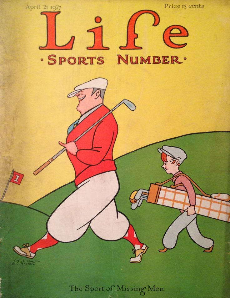Life Magazine April 1927 Golf Cover