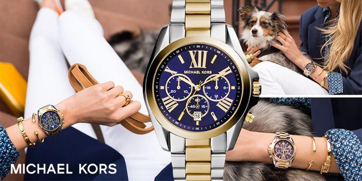 Michael Kors Bradshaw Chronograph, um relógio marcante e uma conjugação de cores incrível. Um autêntico sinónimo de estilo.
