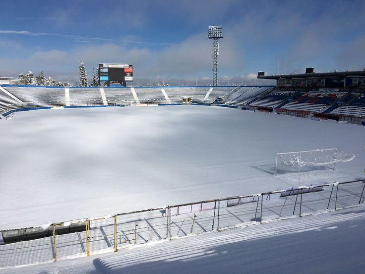 Vista estadio de la UNIVERSIDAD CATOLICA San Carlos de Apoquindo - Completamente nevado 2017