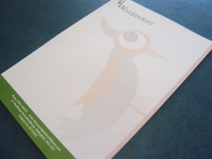 Letterheads for Woodpeckers. #LetterheadDesign #DesignNottingham #PrintNottingham