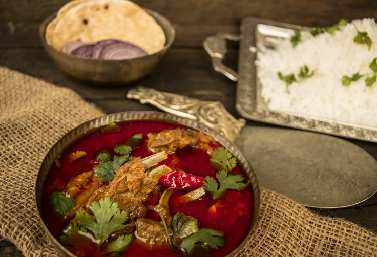 Lal Maas- fiery hot Indian goat curry.
