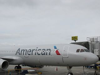 American Airlines Airplanes Fly California to NY
