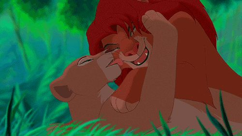 characters in the lion king movie nala and simba fight