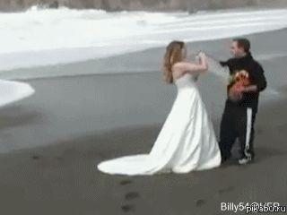 Et vive la mariée ! Un gif animé drole