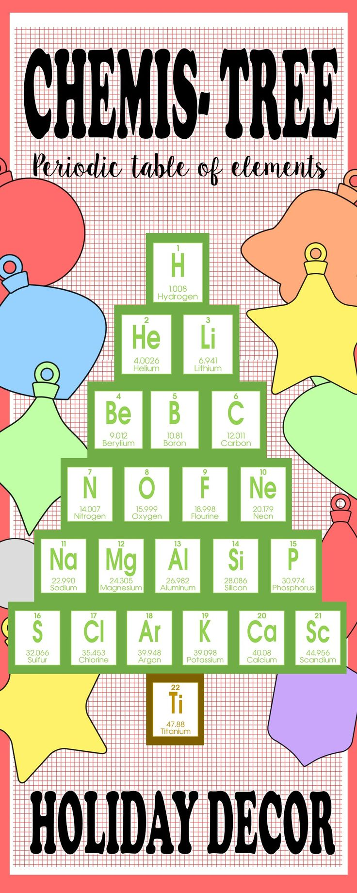Best 25 periodic elements ideas on pinterest periodic table christmas chemis tree periodic table of elements holiday decor gamestrikefo Choice Image