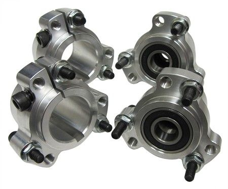 "Lightened Aluminum Racing Wheel Hub Set (Front and 1"" Rear) | Go Kart Parts | Racing Karts | Engines | Frames | Tires | Tips | Kits | Torque"