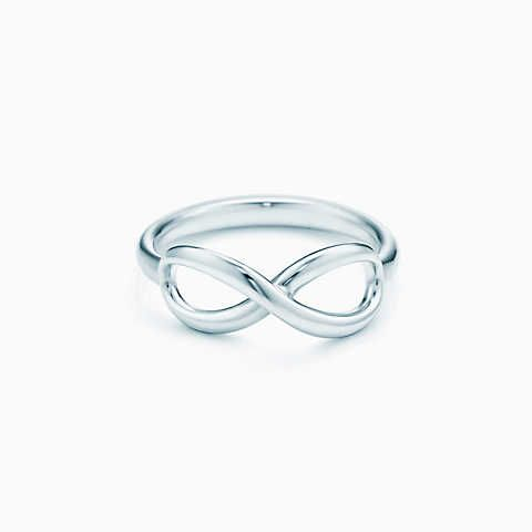 Tiffany Infinity ring in sterling silver.