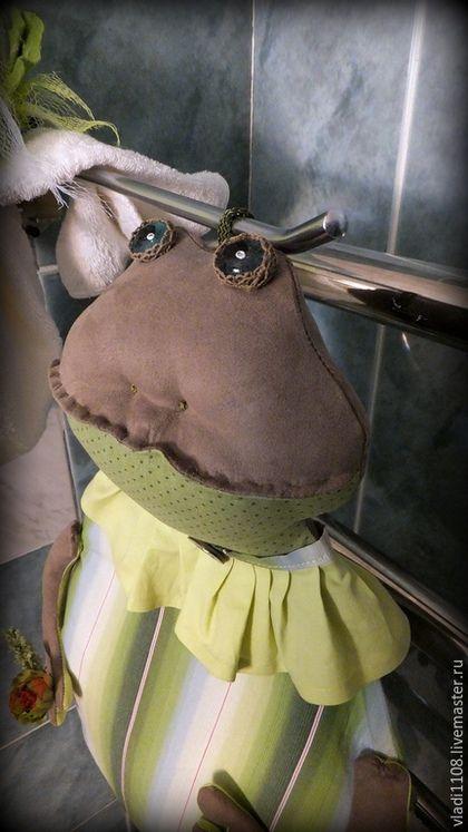 Ванная комната ручной работы. Ярмарка Мастеров - ручная работа. Купить УРСУЛА  (для полотенец). Handmade. Зеленый, полотенце в подарок