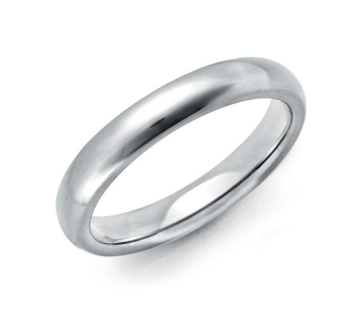 comfort fit wedding ring in platinum 3mm - Mens Platinum Wedding Rings