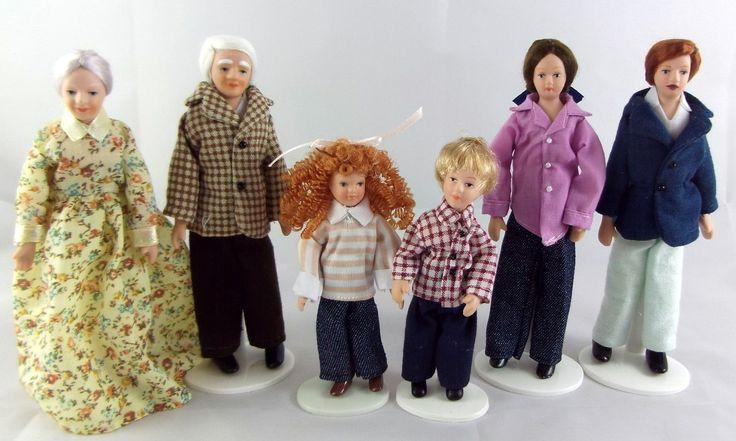 Puppen Haus Miniaturen Modern 1:12 Maßstab Porzellan Familie Mit 6 Leuten in Spielzeug, Puppenstuben & -häuser, Puppen | eBay