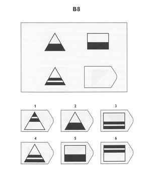 Ravens Progressive Matrices test item B8