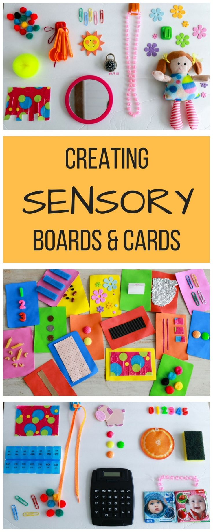 A mom/occupational therapist's guide to making sensory boards and cards for cheap!