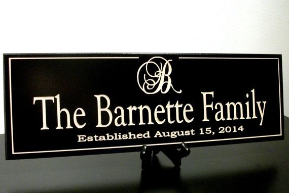 Personalized Family Name Sign Plaque Last Name by CustomSignworks