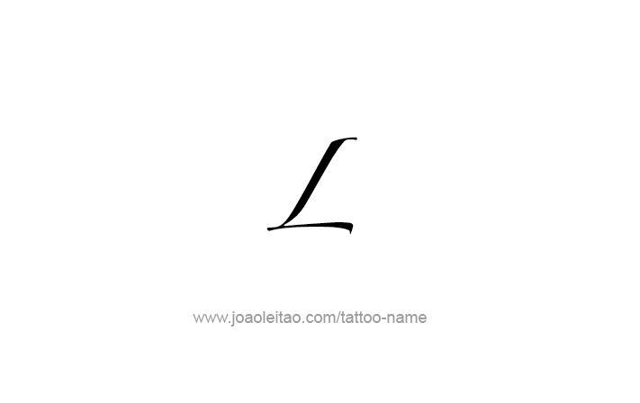 Tattoo Design Roman Numeral L (50)